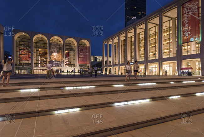 New York, New York - September 9, 2016: A general view of Lincoln Center
