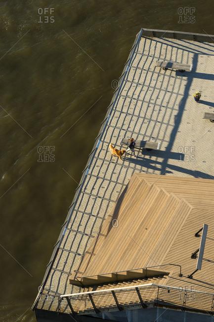 Philadelphia, Pennsylvania - October 10, 2016: An aerial view of a park