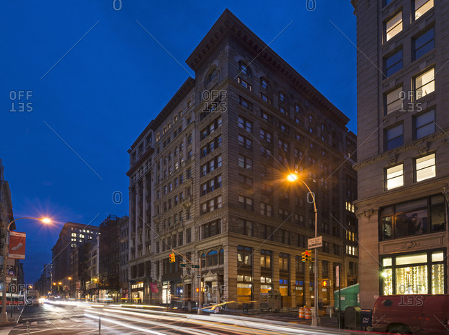 New York, New York - November 29, 2016: A general street view of Soho in Manhattan