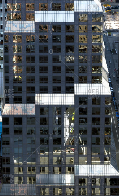 Reflections from a glass building