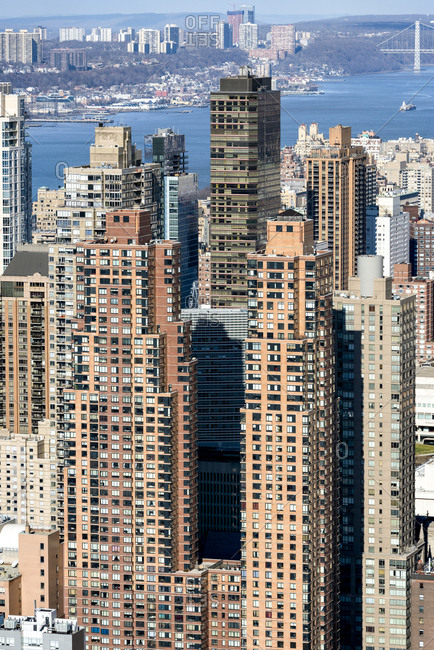 Residential buildings on the upper west side of manhattan