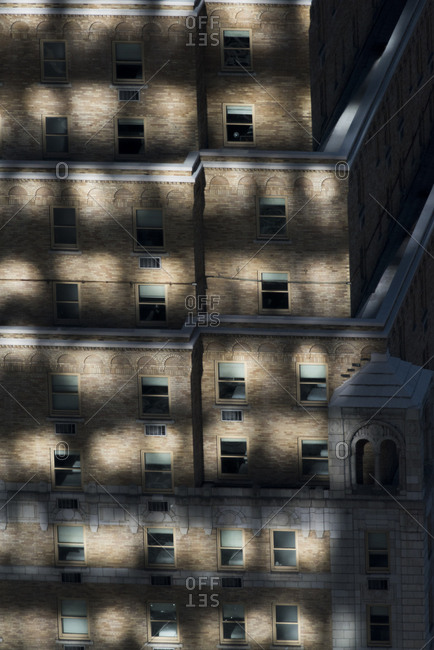 Shadows on a building
