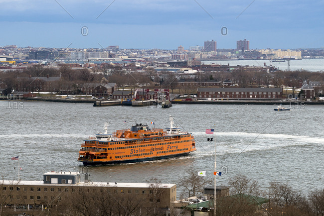 New York, New York - February 15, 2017: The Staten Island Ferry