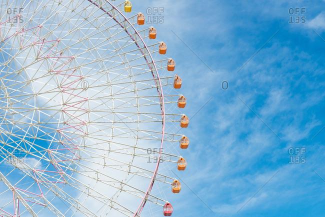 Tempozan Ferris Wheel in Osaka, Japan.
