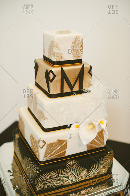Cake with letter M