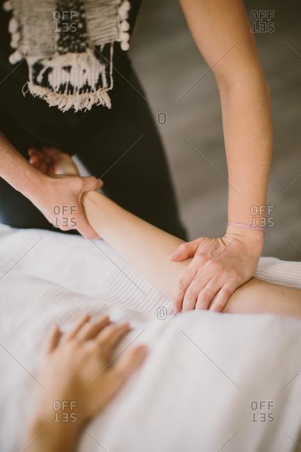 Close up of a massage