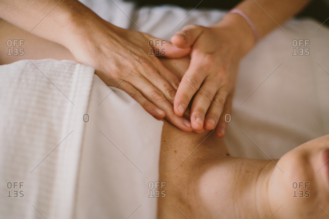 Hands giving a massage