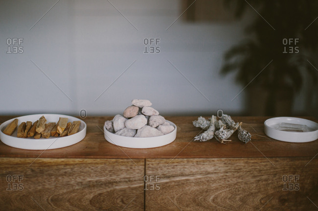Objects in a wellness studio