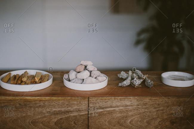 Objects in a wellness studio