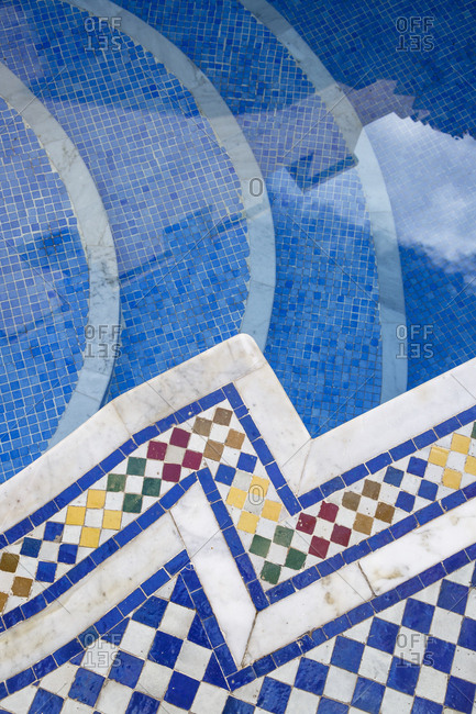 Pool detail at a traditional Riad, Fes, Morocco.
