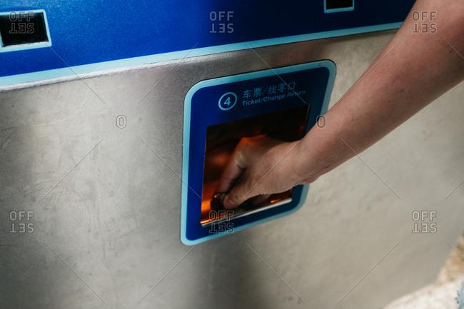 Buying subway ticket