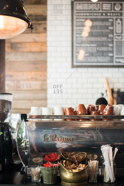 Cape Town, South Africa - February 1, 2017: Coffee shop interior in Cape Town, South Africa