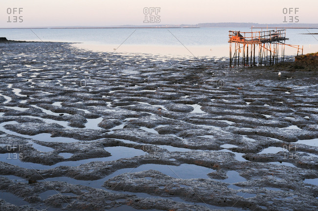 Low tide on the shore of Carrasqueira, Comporta, Portugal