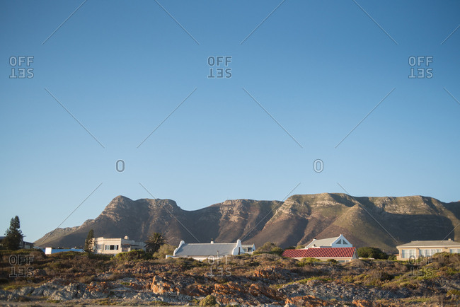 Mountainside homes in Hermanus, Western Cape, South Africa