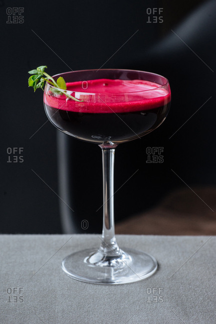 Cocktail in a coupe glass