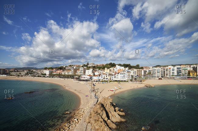Spain- Catalonia- Blanes- resort seaside town on Costa Brava at Mediterranean Sea