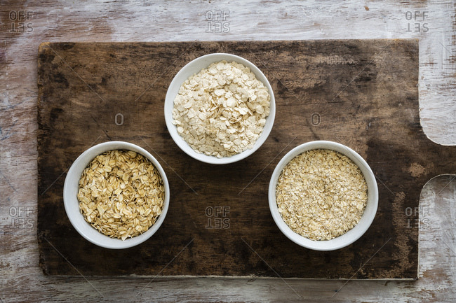 Variation of oat flakes