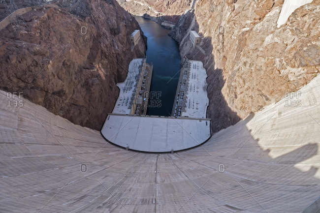 USA- Nevada- Arizona- Lake Mead- Colorado River- Hoover Dam