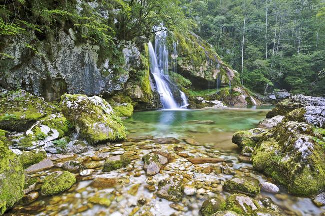 Slovenia- Primorska- Bovec- Boka Falls