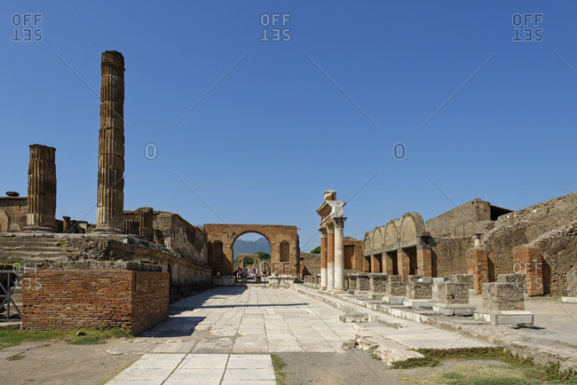 Italy- Campania- Pompeii- Forum