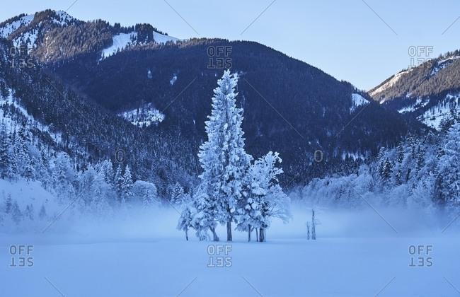 Austria- Tyrol- Karwendel- Riss Valley in winter