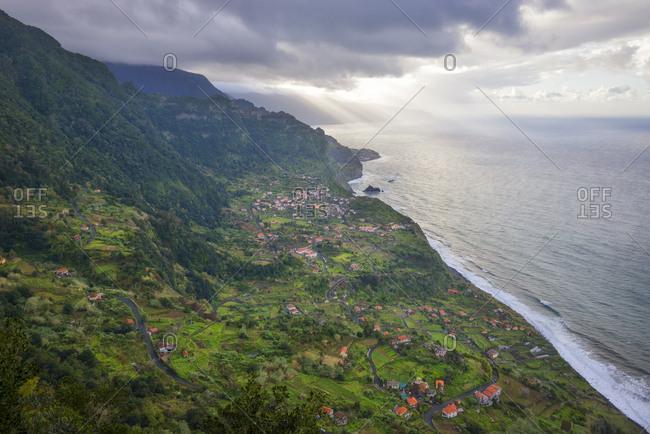 Portugal- Madeira- view of Arco de Sao Jorge on the north coast