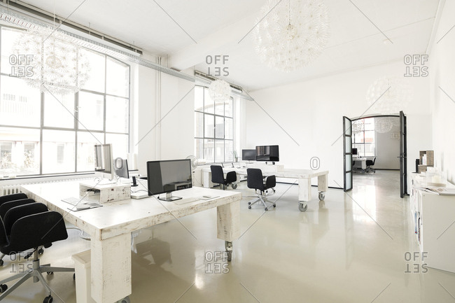 modern interior office stock. Interior Of A Modern Agency Office Stock
