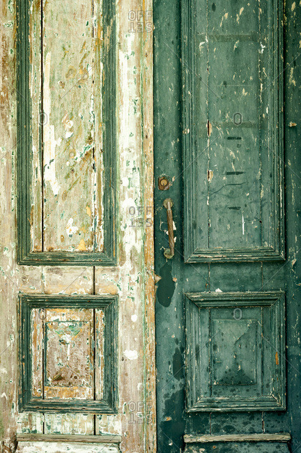 Weathered doors in Portugal