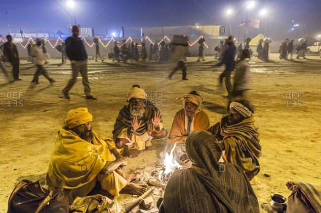 Allahabad, India - January 26, 2013: Maha Kumbh Mela