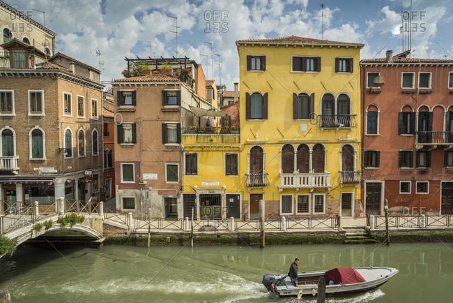 Venice, Italy - April 23, 2015: Cannaregio, Rio Tera de la Maddalena