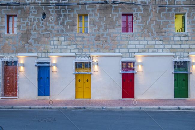 Malta - October 29, 2015: Marsaxlokk fishing village