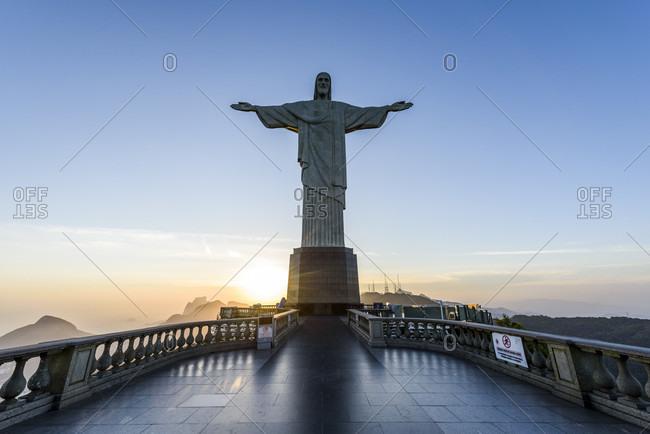 Rio de Janeiro, Brazil - November 27, 2016: Christ The Redeemer In Tijuca Forest National Park, Rio De Janeiro, Russia