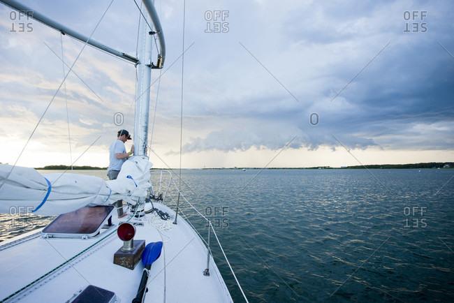 An Incoming Summer Storm Seen From Lake Tashmoo In Martha's Vineyard