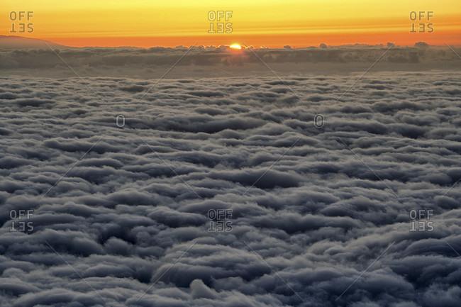 A Vast Cloudscape In Teide National Park, Spain
