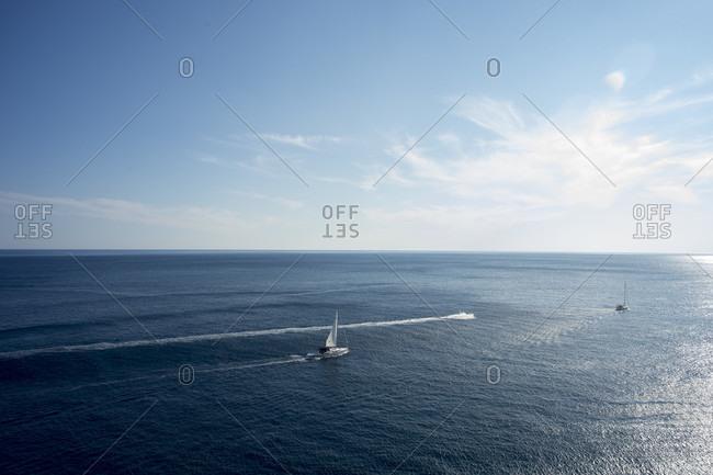 Ships On The Adriatic Sea, Croatia, Europe