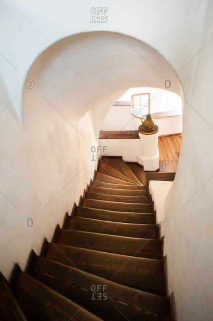 Stairway in the Bran Castle