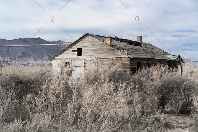 Old abandoned house in the countryside