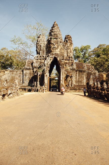 Angkor Wat, Cambodia - December 1, 2010: Archeological ruins at Angkor Wat temple