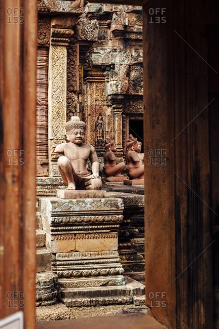Buddhist sculpture at Angkor Wat, Cambodia