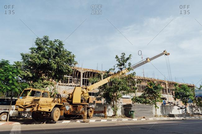 Pakse, Laos - November 27, 2010: Building under construction
