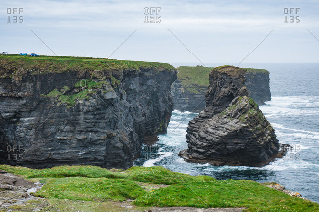 Cliffs on the Atlantic coast in county Clare in Ireland