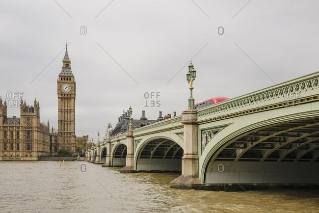 London, England - October 28, 2016: Westminster Bridge and Big Ben