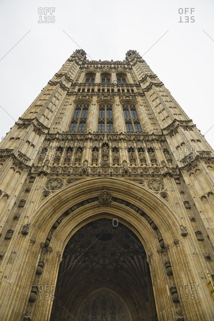 Entrance to the Palace of Westminster in London