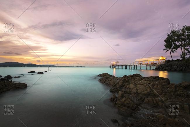 Sunset over Airlie Beach Pier, Australia