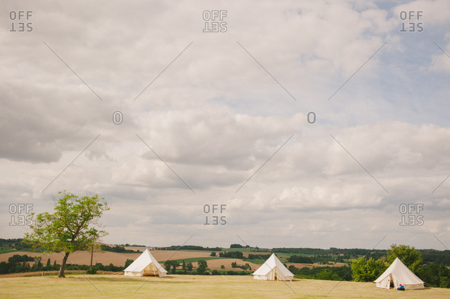 Tents in the French countryside