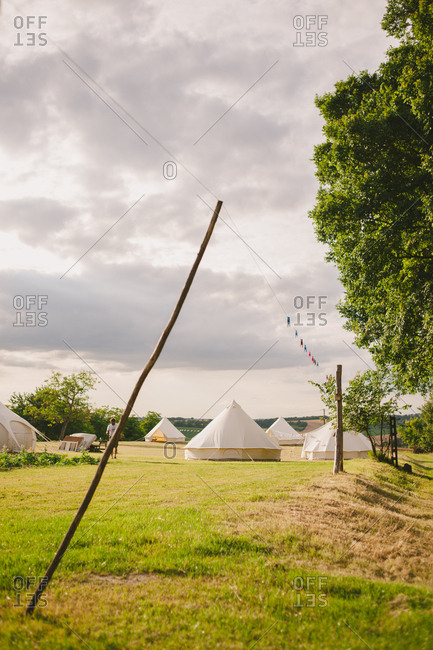 Yurts in the French countryside