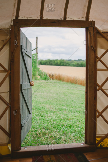 Countryside view from yurt
