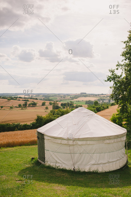 A yurt in the French countryside
