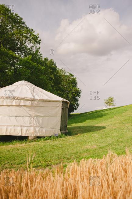 A yurt in a rural setting
