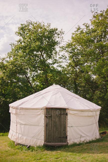 Yurt in a rural setting